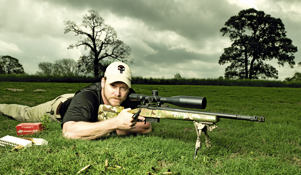 Chris Kyle with GAP Rifle