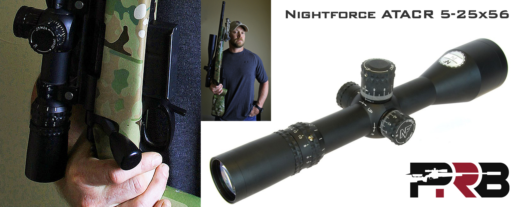 Closeup of GAP Gladius Nightforce Scope