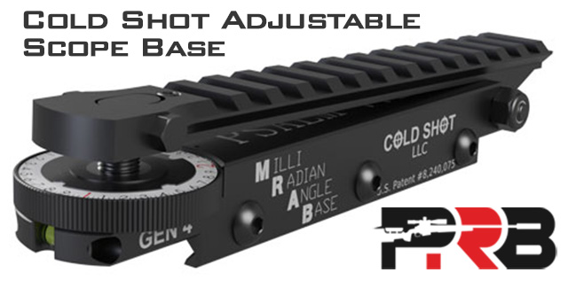 Cold Shot Adjustable Scope Base