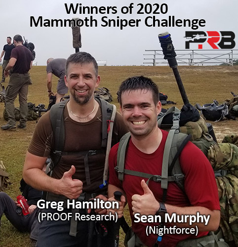 Sean Murphy Nightforce and Greg Hamilton PROOF Research at the 2020 Mammoth Sniper Challenge