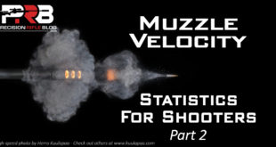 Muzzle Velocity Statistics for Shooters
